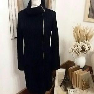 Calvin Klein Cable Knit Sweater Dress Sz Large
